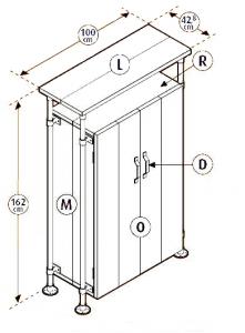 bouwtekening kast maken